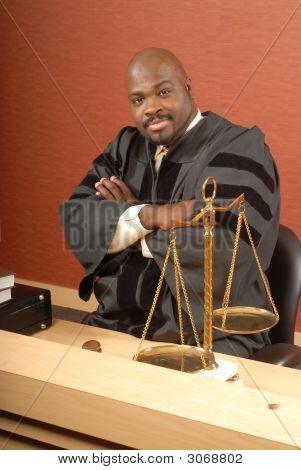Judge At His Desk