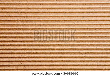 a sheet of corrugated cardboard