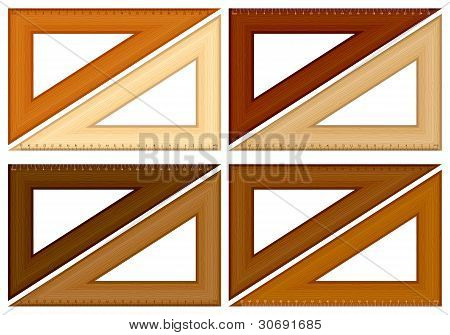 Wooden Triangle Ruler