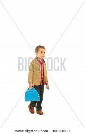 Little Businessman Walking