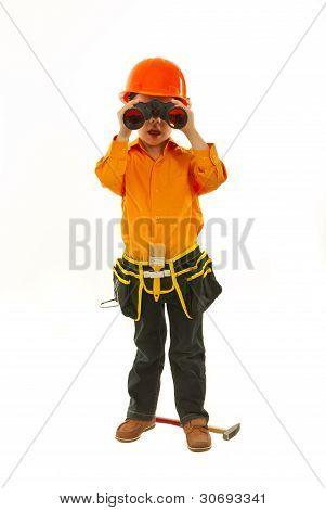 Little Builder With Binocular