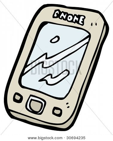 cartoon mobile phone