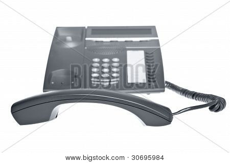 telephone with receiver off the hook