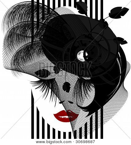 schwarze dame