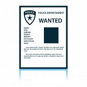 Wanted Poster Icon. Shadow Reflection Design. Vector Illustration. poster