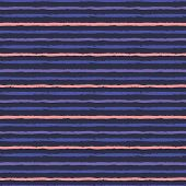 Horizontal Seamless Grunge Brush Striped Pattern. Pink Purple Color Stripes On Dar Background. Seaml poster