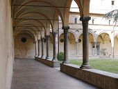 Cloister Of Monastery In Italy