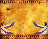foto of isis  - Wall with Egyptian goddess image  - JPG