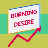 Handwriting Text Writing Burning Desire. Concept Meaning Extremely Interested In Something Wanted It poster