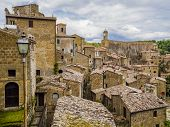 Picturesque View Of The Red Roofs Of  Sorano, Tuff Mediaeval Village In Tuscany, Italy poster
