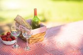 Rest And Holiday At A Picnic. On The Weekend. Romance .vino And Bakalls poster