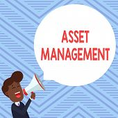 Word Writing Text Asset Management. Business Concept For Systematic Process Of Operating And Disposi poster