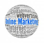 Online Marketing in Word Collage