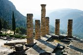 stock photo of oracle  - temple of Apollo in oracle Delphi - JPG