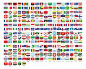 stock photo of flags world  - 257 World flags countrys alphabetically ordered over white background - JPG