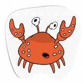 Surprised Crab With Claws And Big Eyes. Sea Life. Sea Creature. poster