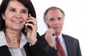 foto of chatterbox  - mature couple on the phone - JPG