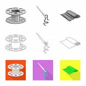 Vector Design Of Craft And Handcraft Icon. Collection Of Craft And Industry Vector Icon For Stock. poster