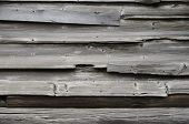 Shabby Wooden Logs Texture. Old Wood Fence, Barn Surface. Hardwood Weathered Grunge Oak Wall. Dark O poster