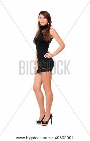 Youthful Pretty Brunette Woman