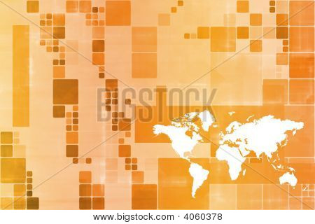 Orange World Wide Business Template Abstract