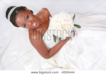 Beautiful African American Bride Portrait