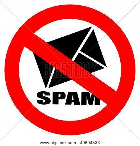 No spam vector sign