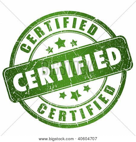 Selo de certificado grunge