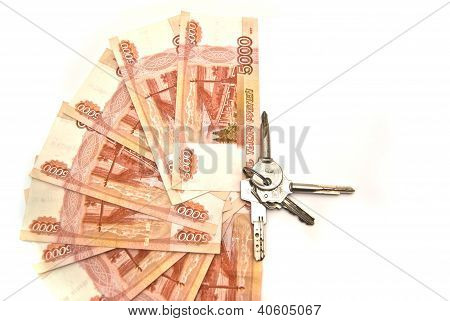 Bunch Of Keys And Banknotes