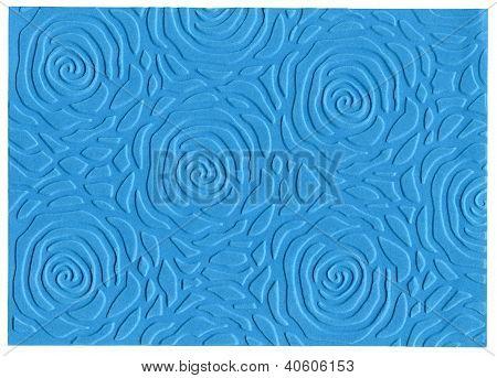 Blue Embossed Paper