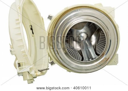 Steel drum of a washing machine.