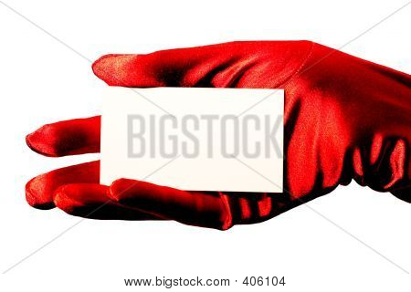 Blank Card & Red Glove