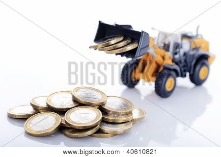 Euro Money Coins And Loader