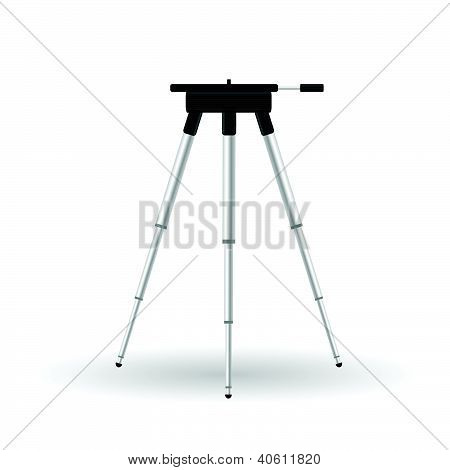 Stand For Camera Vector Illustartion