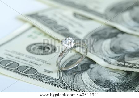 Marriage and money concept of high wedding cost and divorce
