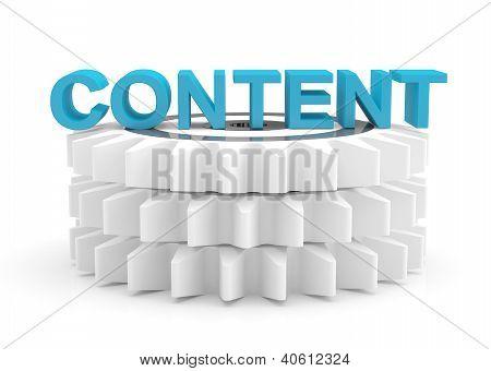 Content Computer Concept. 3D Icon