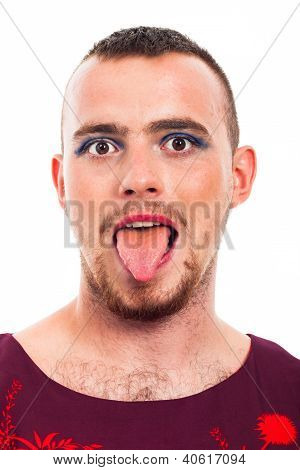 Transvestite Funny Face