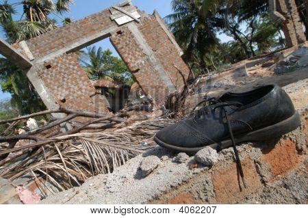 Shoe In Debris