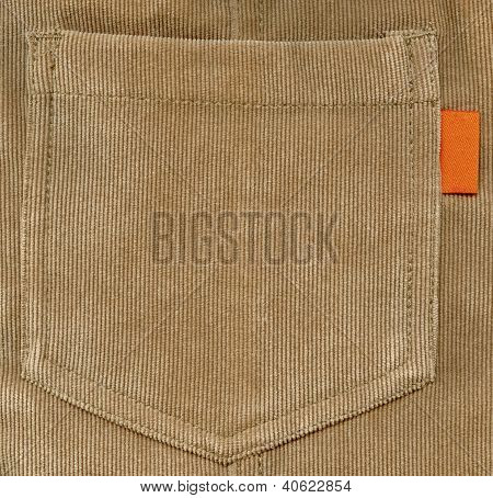 Brown back pocket