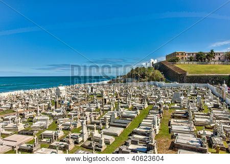 Grave Yard In Old San Juan