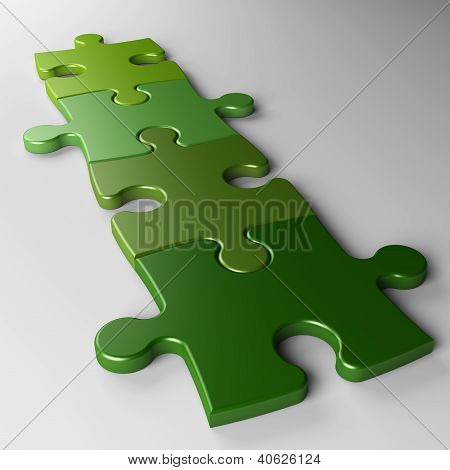 Four Puzzle Pieces To Place Concepts