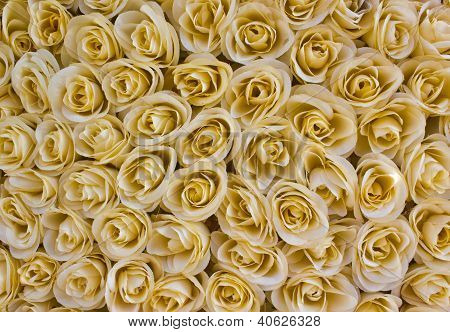 Abstract Texture Of Plastic Rose Flowers.