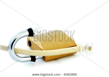 Phone Data Cable And Lock