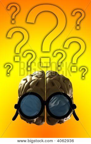 clever Gehirn verwirrt