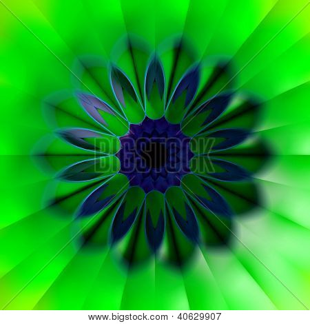3D Colorful Fractal Background