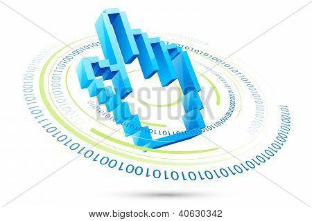 Pixelate Hand Pointer