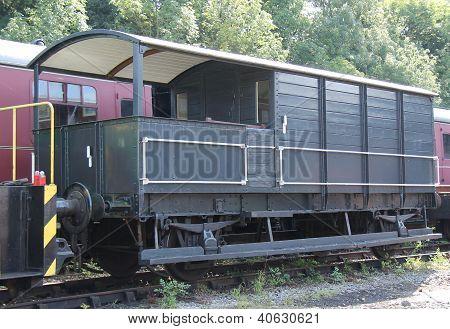 Van de guardas de trem Railway.