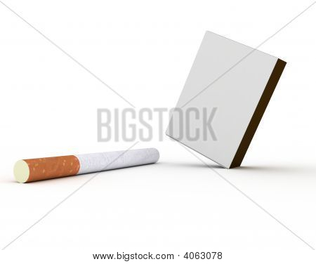 Cigarettes And Pack Of Matches