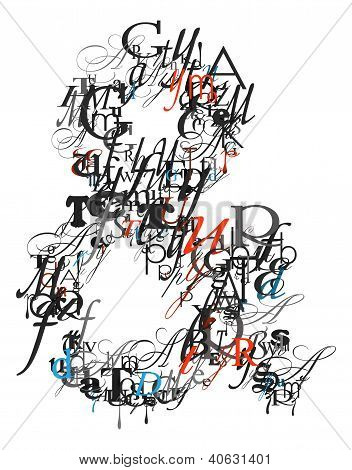 Ampersand Sign , Alphabet From Letters