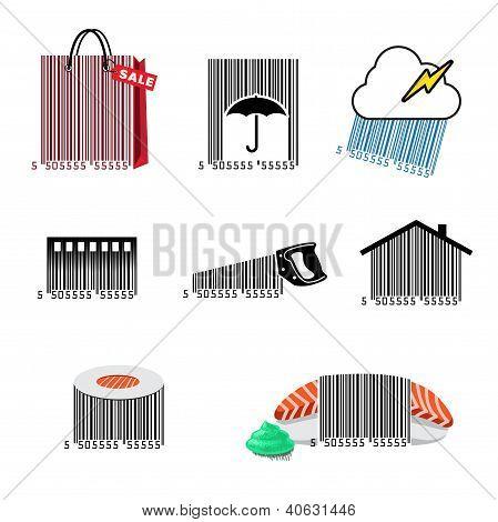 Barcode set icons
